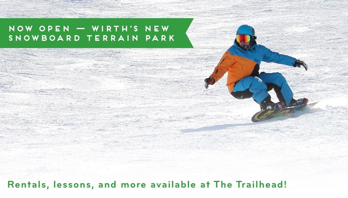 Now Open - Wirth's New Snowboard Terrain Park
