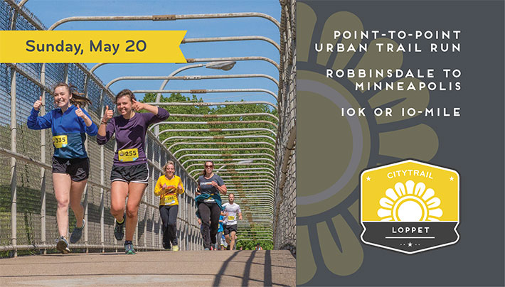 CityTrail Loppet - Sunday, May 20 - Point-to-Point Urban Trail Run